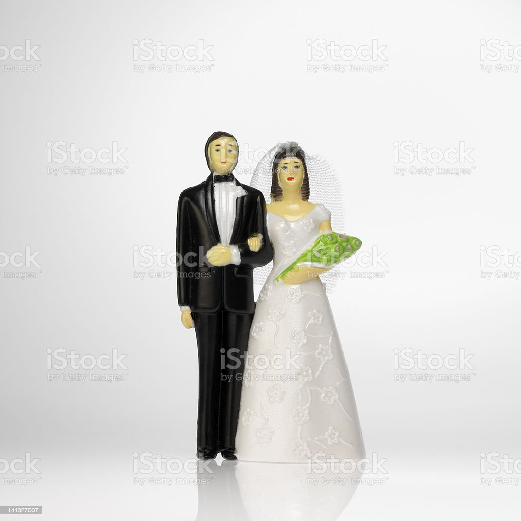 bride and groom cake topper royalty-free stock photo