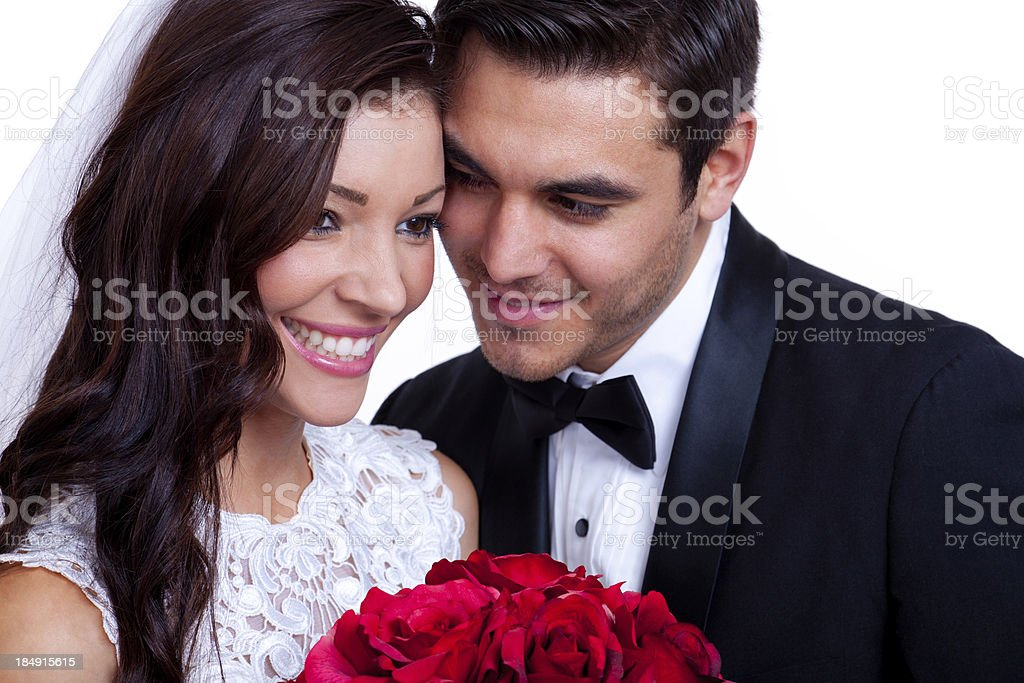 Bride and Groom Closeup royalty-free stock photo
