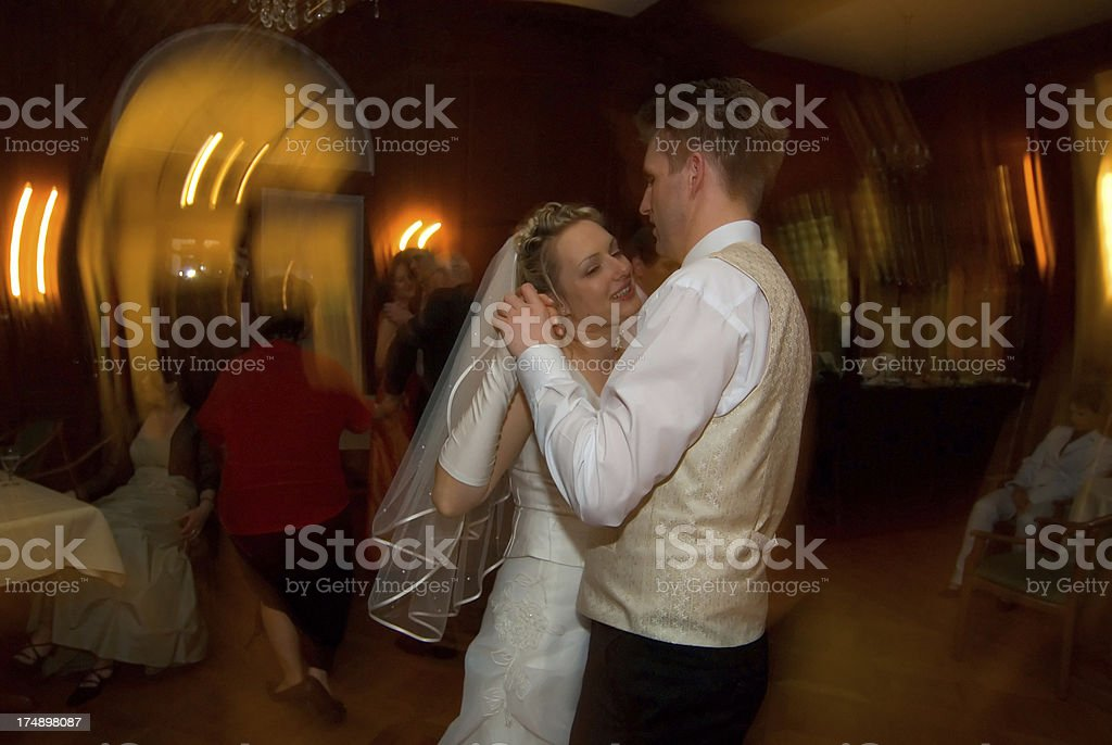 bride and groom dancing royalty-free stock photo