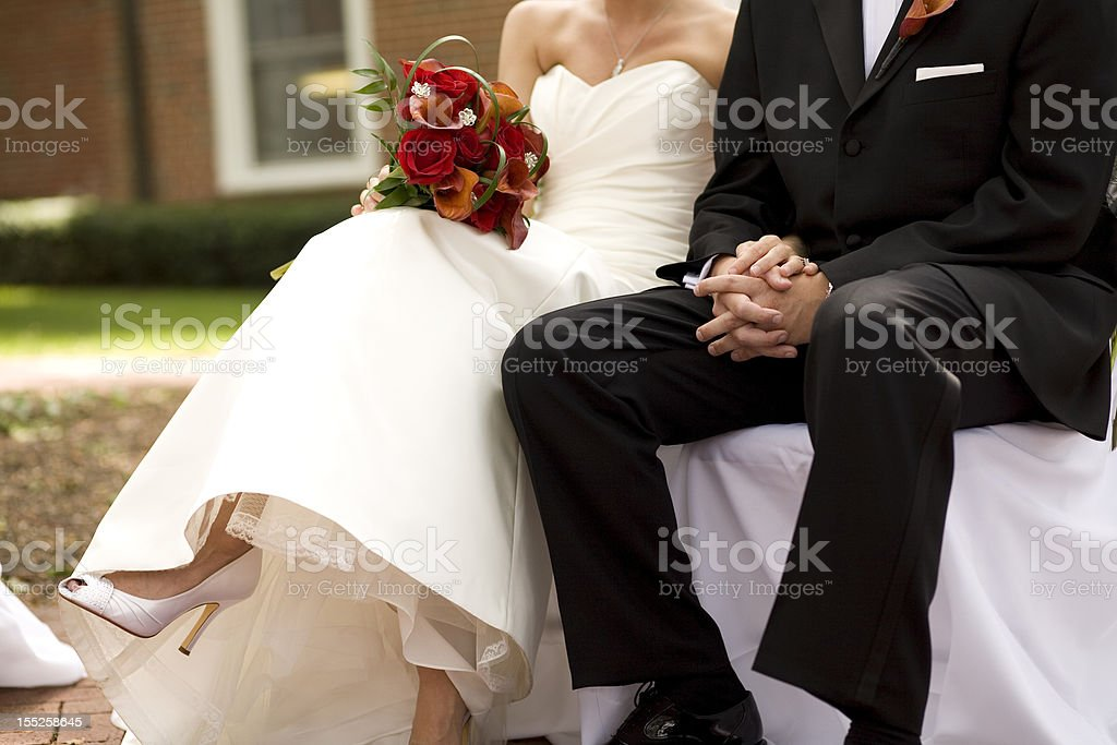 Bride and Groom during Wedding ceremony royalty-free stock photo