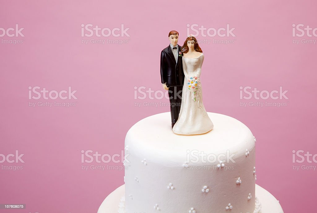 bride and groom figurine stock photo