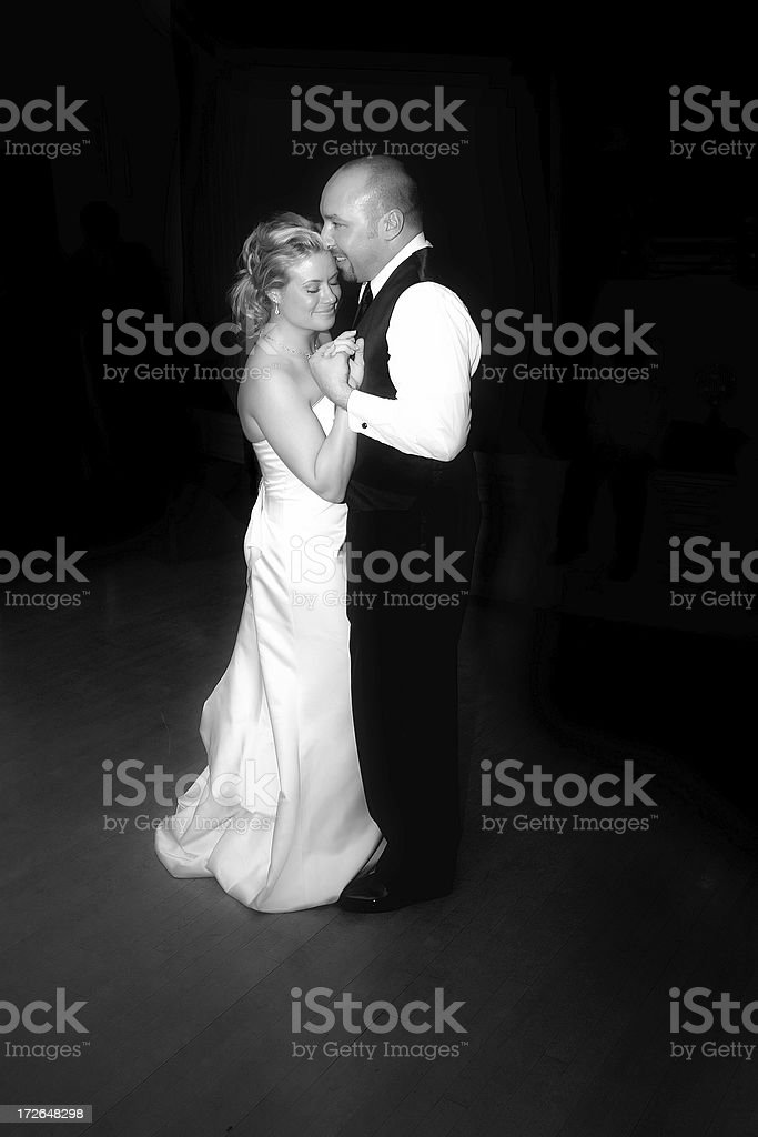 Bride and Groom - First Dance royalty-free stock photo