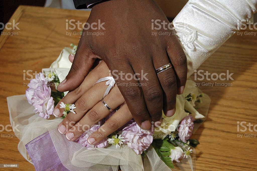 Bride and Groom Hands stock photo
