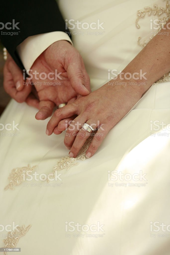 Bride and Groom Just Married stock photo