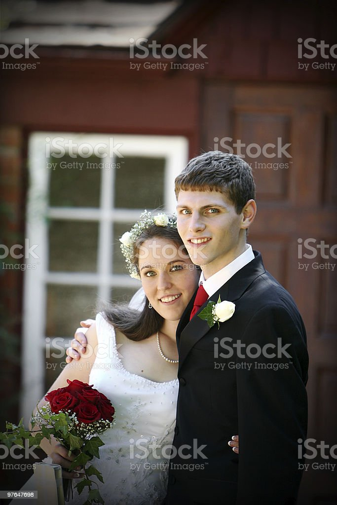 bride and groom portraits royalty-free stock photo