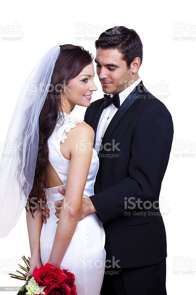 Bride and Groom Standing royalty-free stock photo