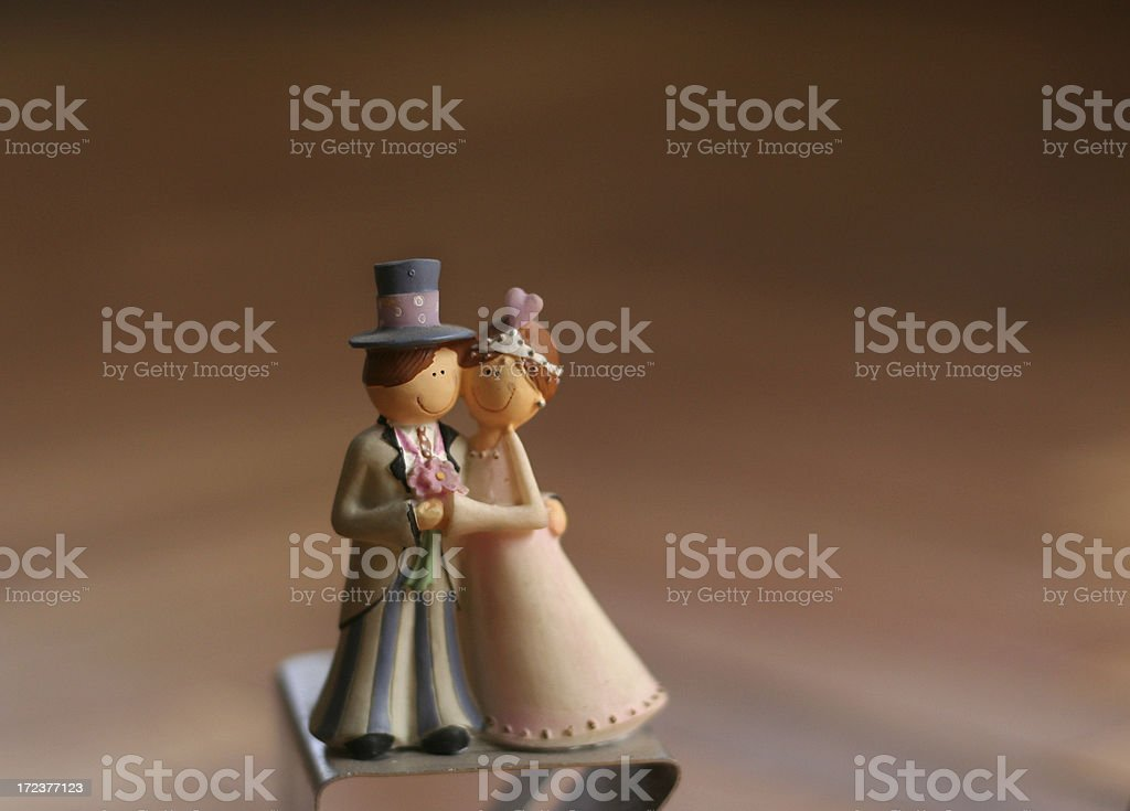 bride and groom statue royalty-free stock photo