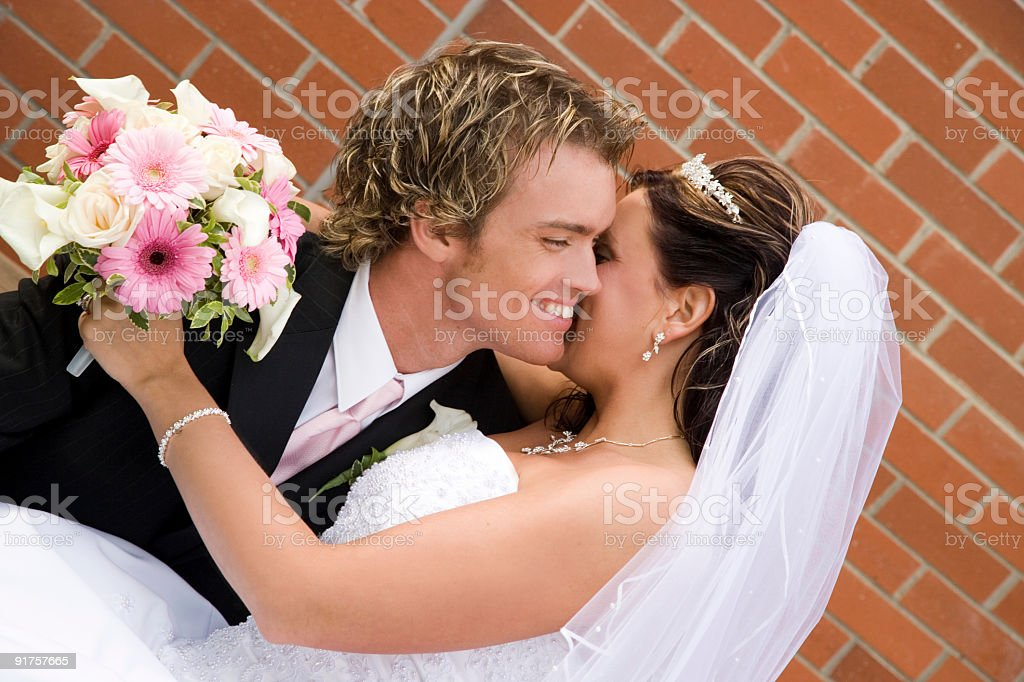Bride and Groom / Whisper royalty-free stock photo