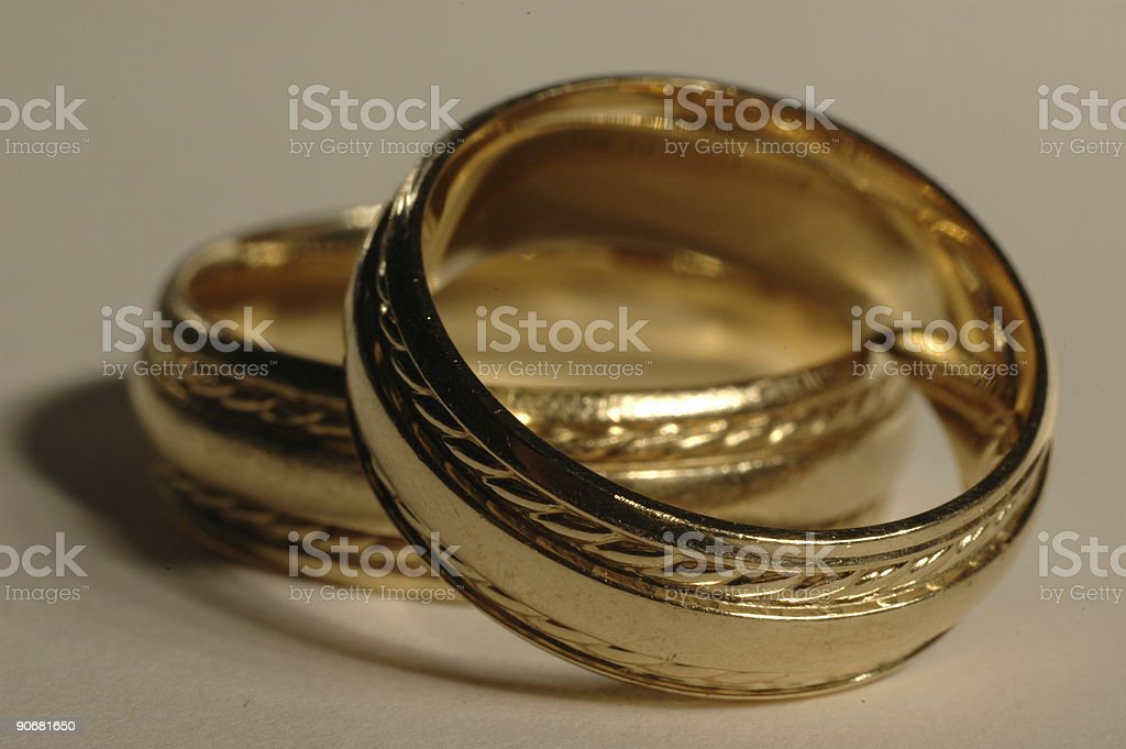Bride and Groom's Rings (2) stock photo