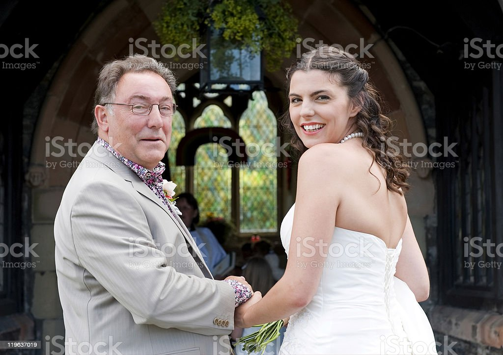 Bride and her Father royalty-free stock photo