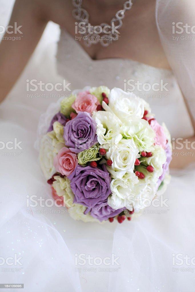 Bride and Wedding Flower - XLarge royalty-free stock photo