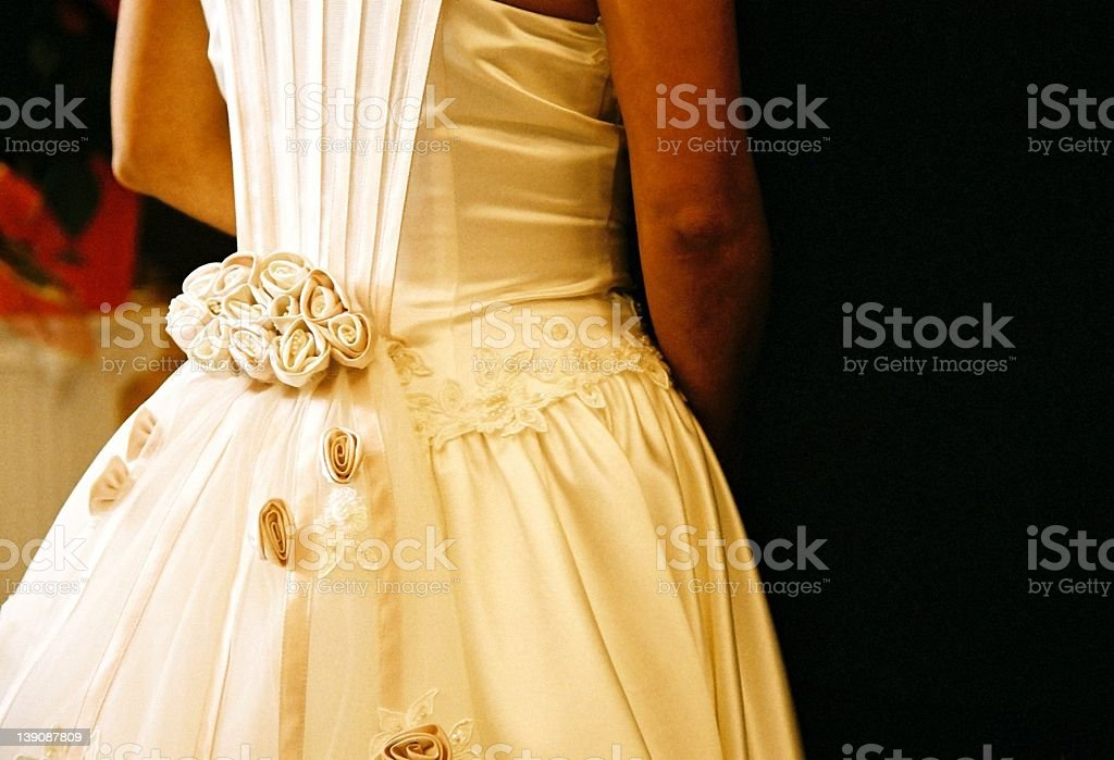 Bride at the alter royalty-free stock photo