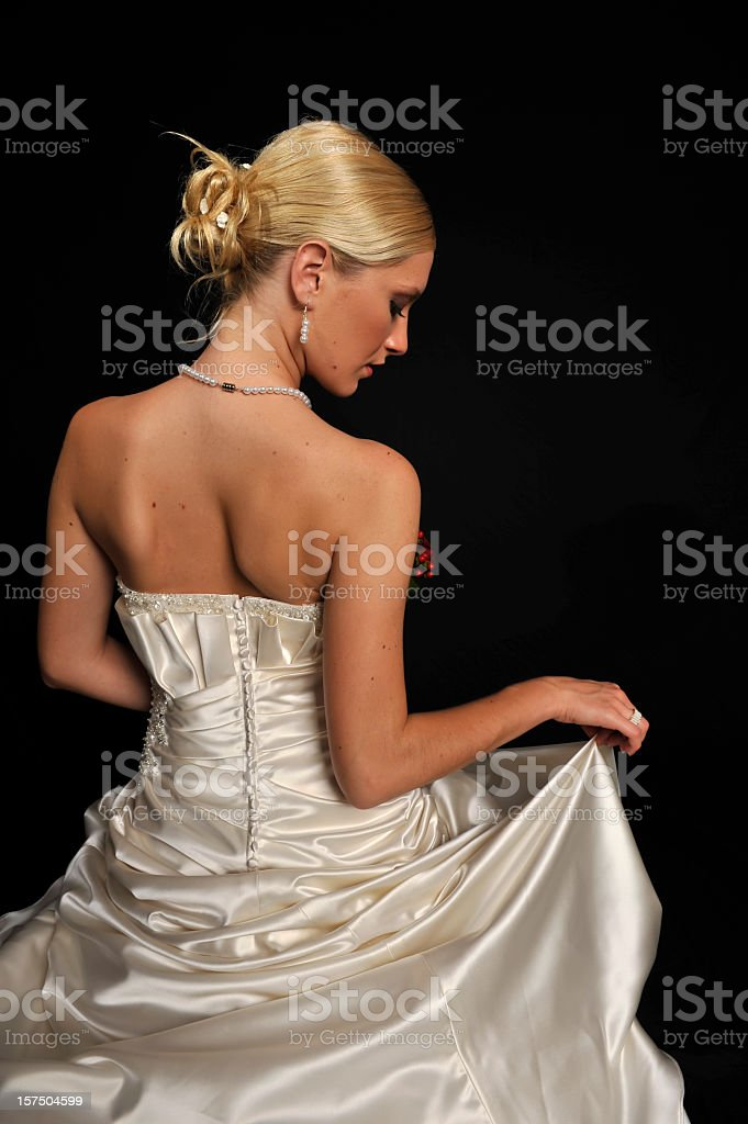 Bride back and neck royalty-free stock photo