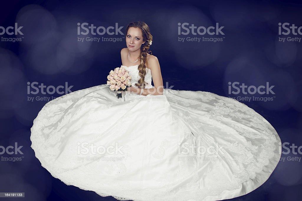 Bride beautiful woman in wedding dress -  style royalty-free stock photo