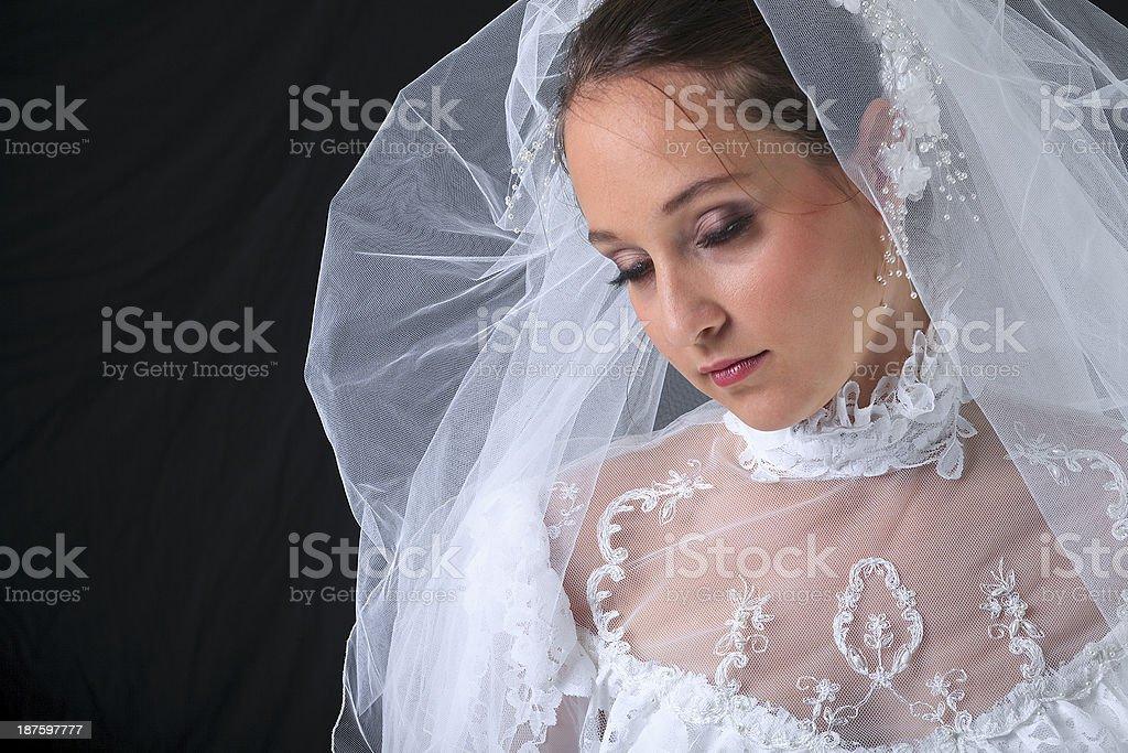 Bride - Black Background royalty-free stock photo