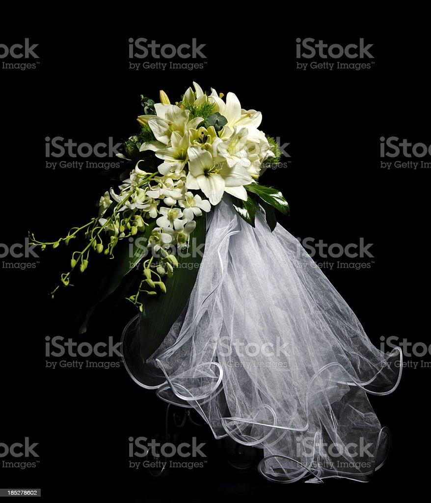 bride bouquet stock photo