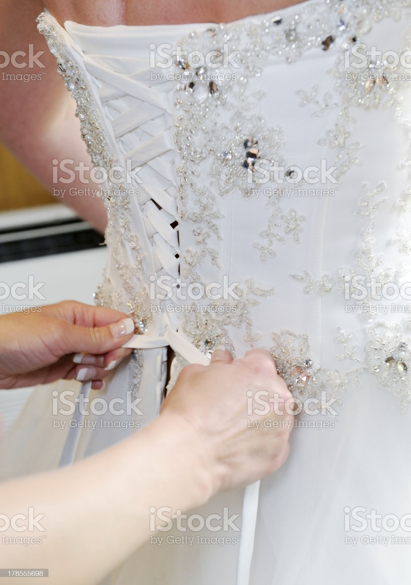 Bride dress detail royalty-free stock photo