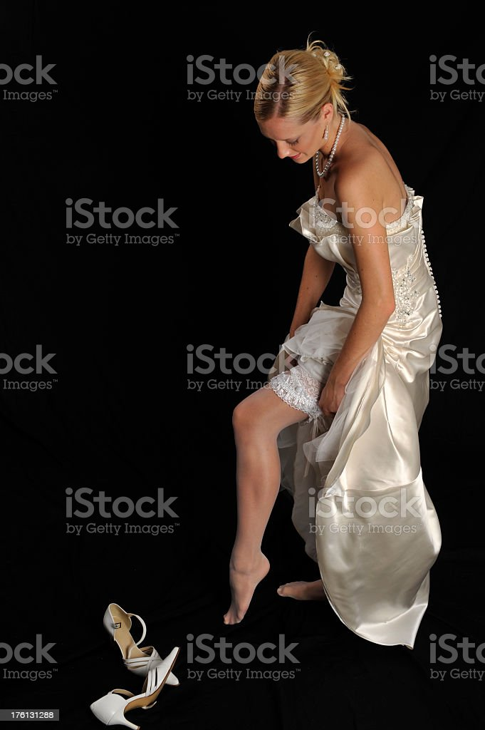 Bride dresses royalty-free stock photo