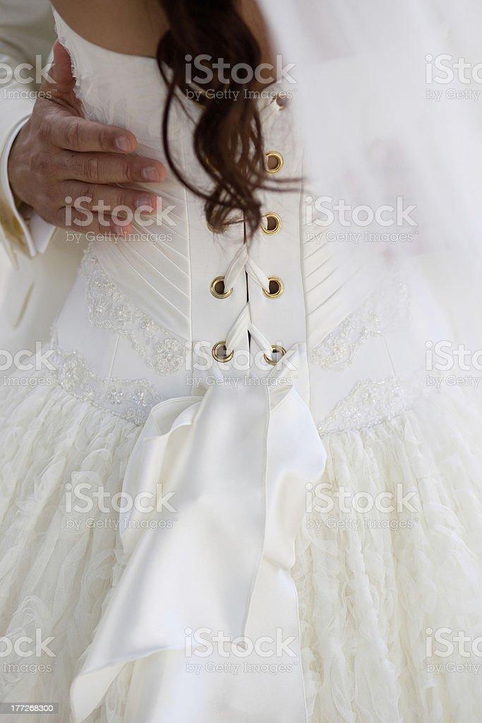 Mariée de derrière photo libre de droits