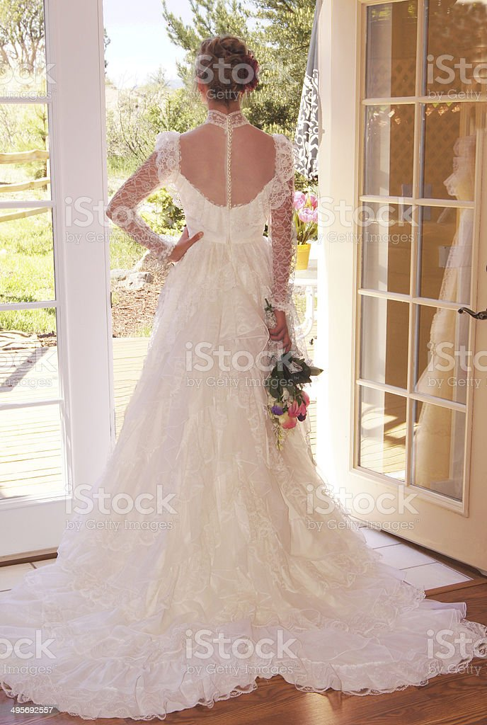 Bride From The Back stock photo