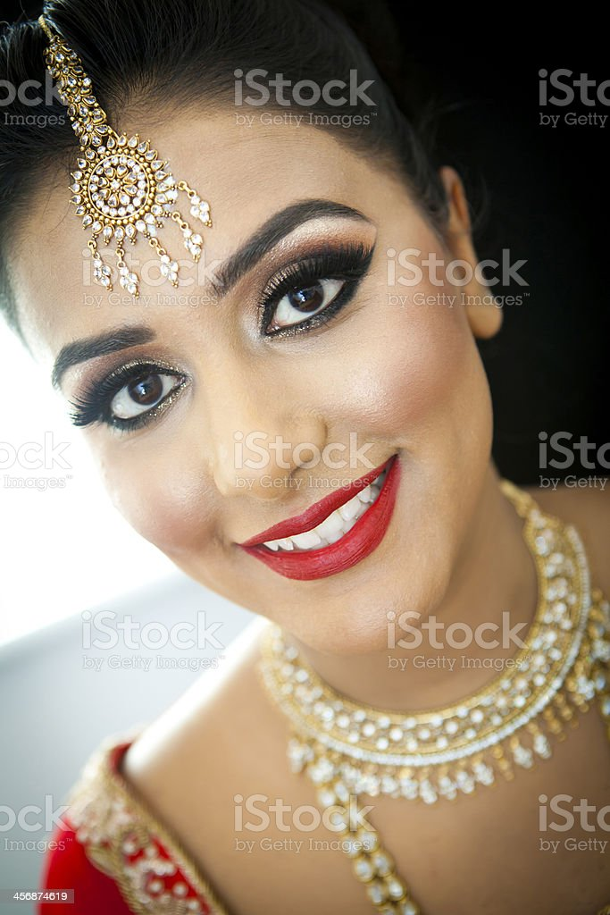 Bride getting ready for the big day royalty-free stock photo