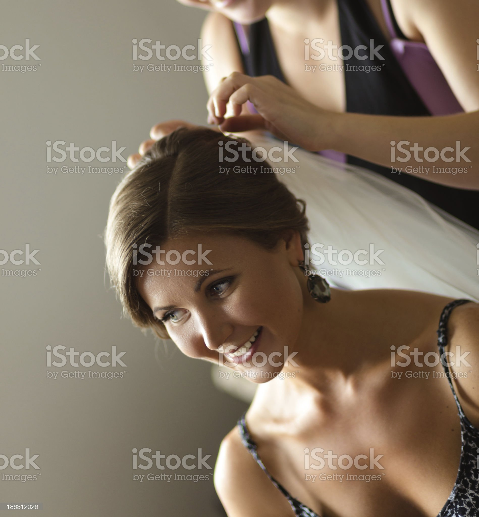 bride getting ready for the wedding royalty-free stock photo