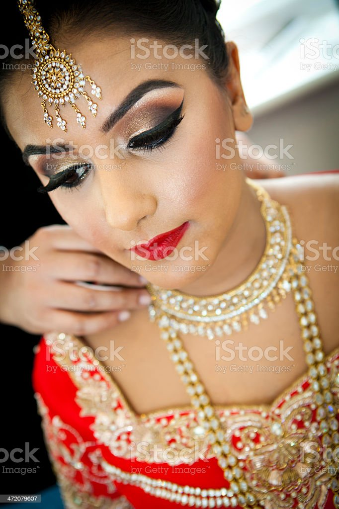 Bride getting ready stock photo