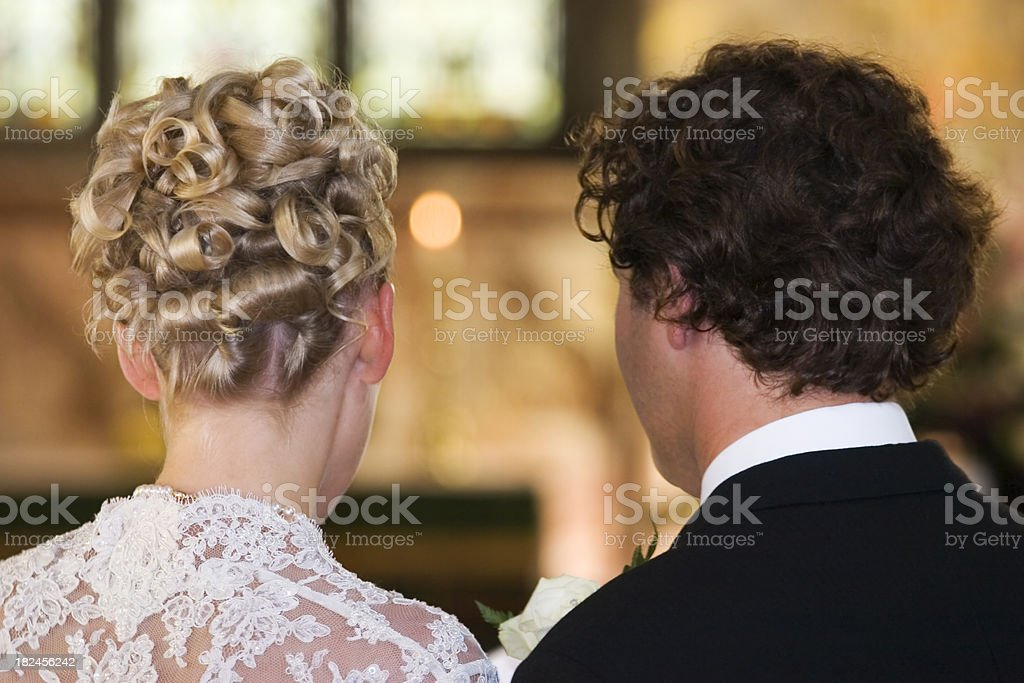 Bride & Groom Making Vows royalty-free stock photo