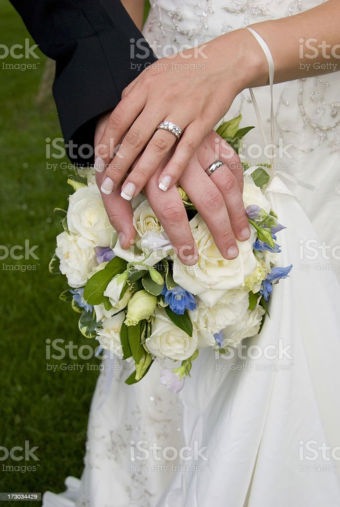 Bride & Groom's Rings stock photo