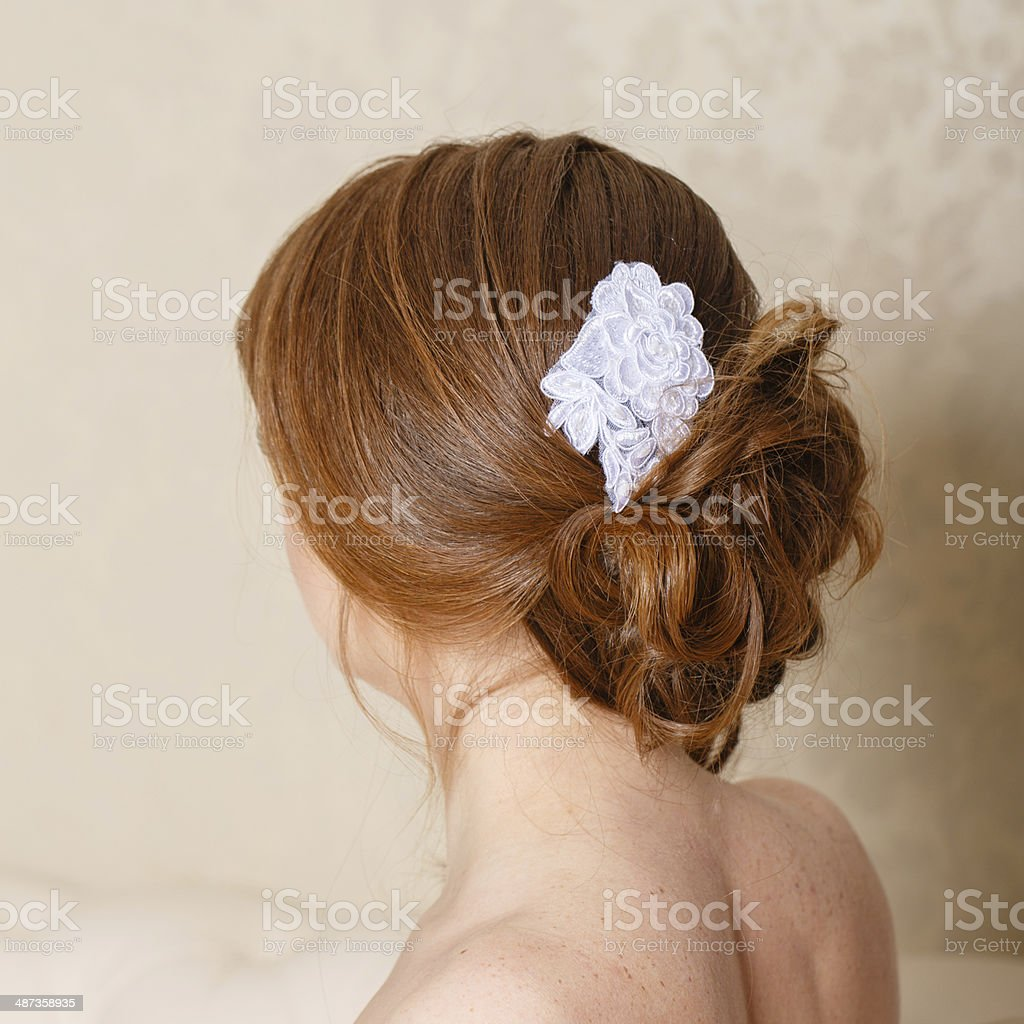 Bride hairstyle stock photo