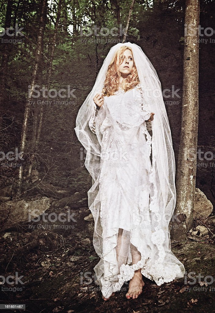 Bride in solitude stock photo