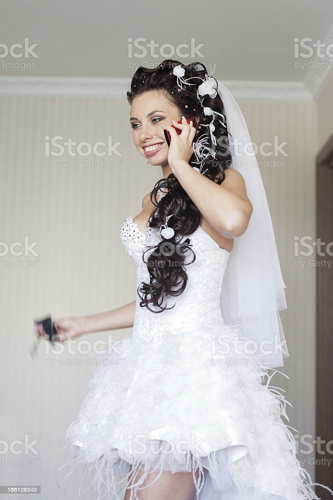 Bride in the room royalty-free stock photo