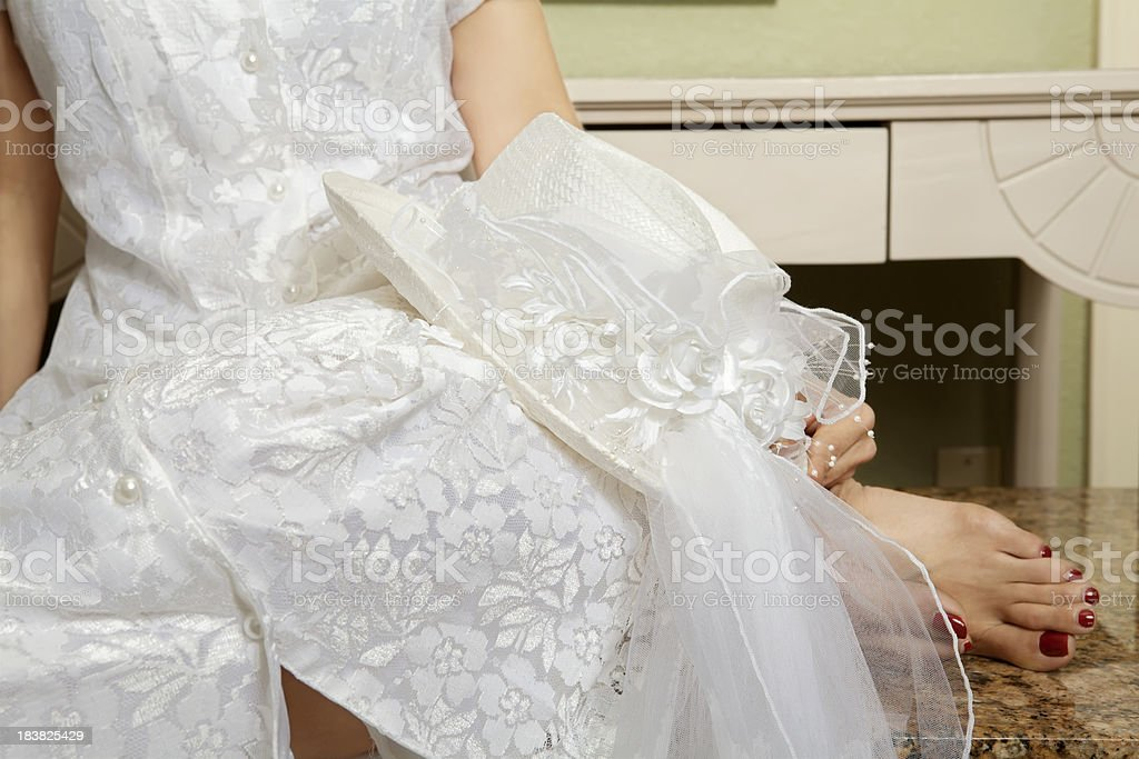 Bride in Waiting stock photo