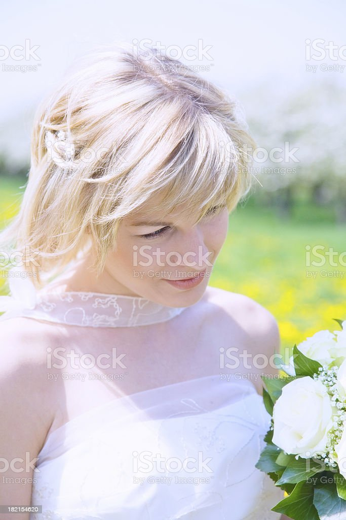 bride in white royalty-free stock photo