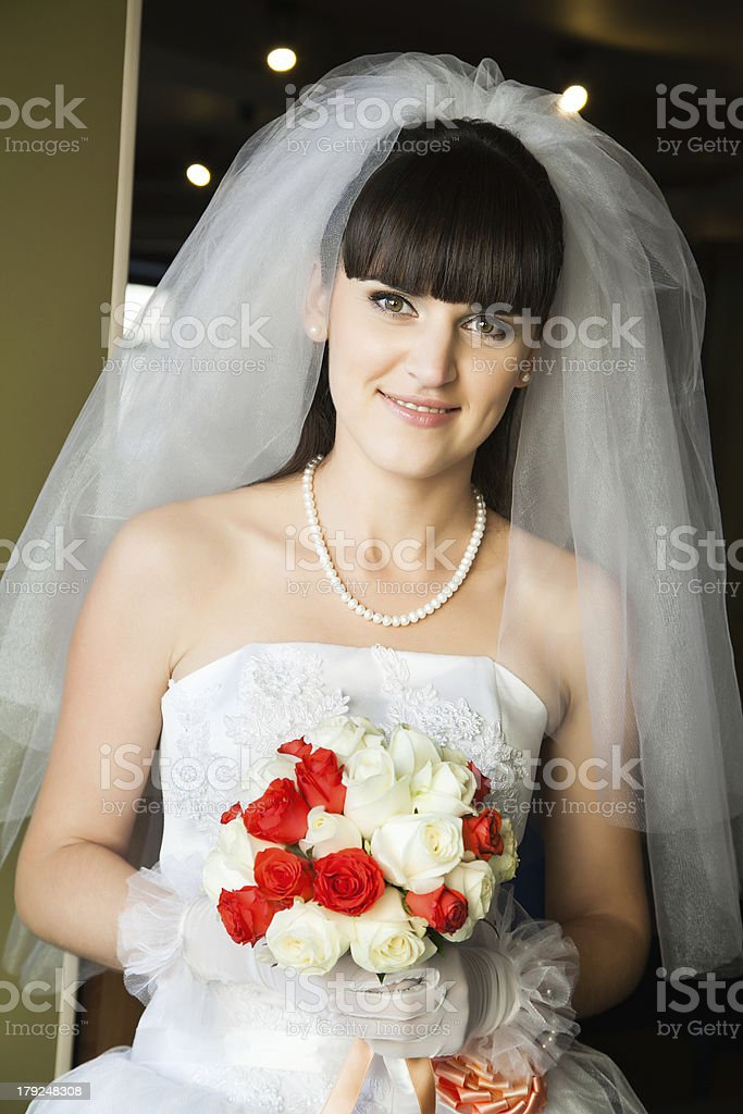 bride indoors royalty-free stock photo