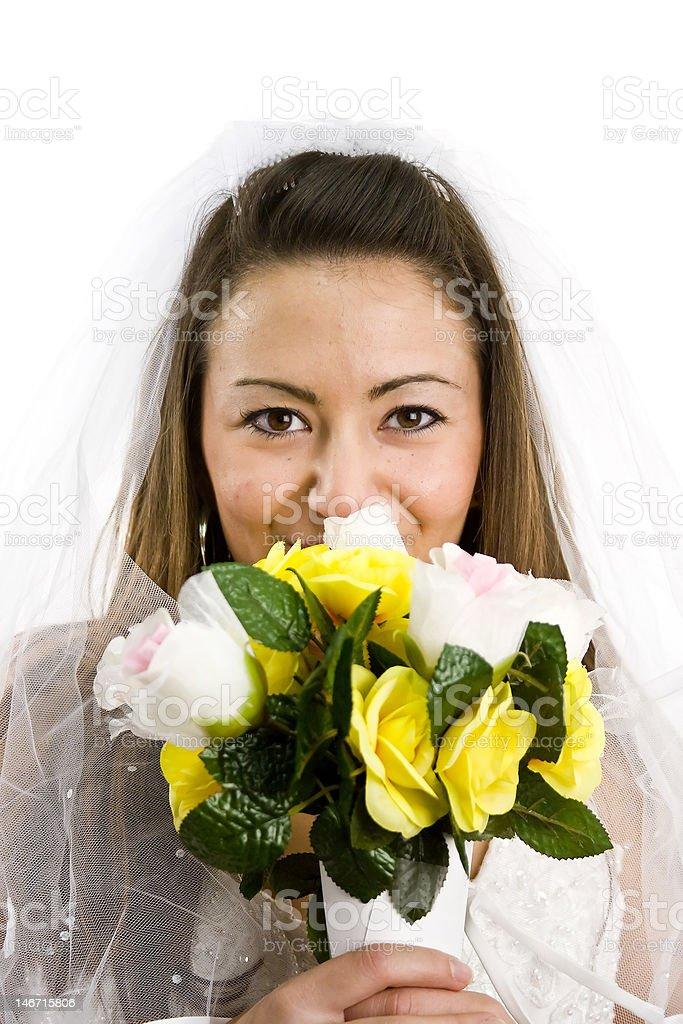 Bride Isolated on white royalty-free stock photo