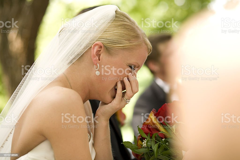 Bride laughing royalty-free stock photo
