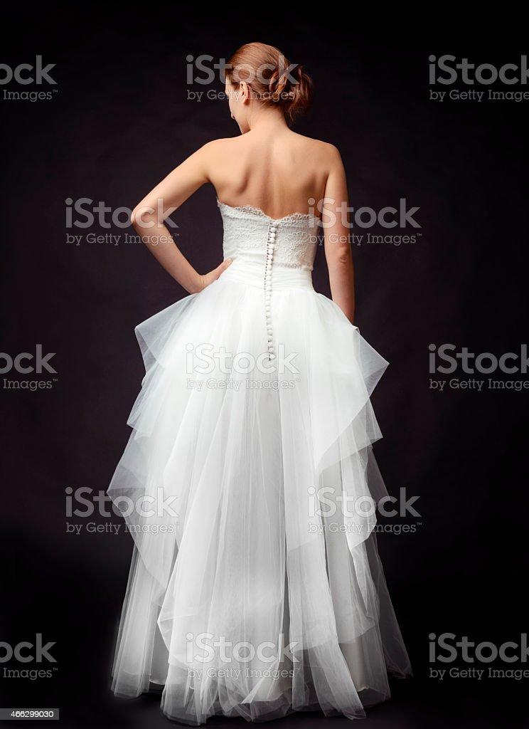 bride on black background stock photo