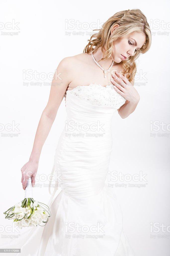 Bride on white background royalty-free stock photo