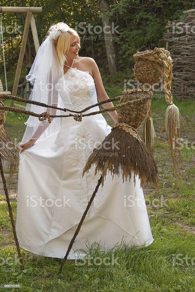 Bride outdoor royalty-free stock photo