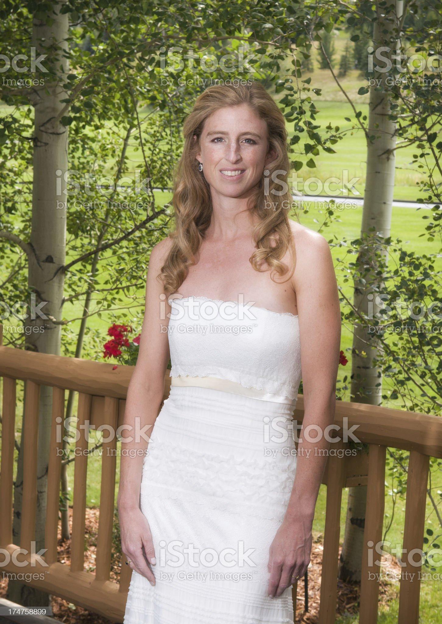 Bride Outdoor Portrait royalty-free stock photo