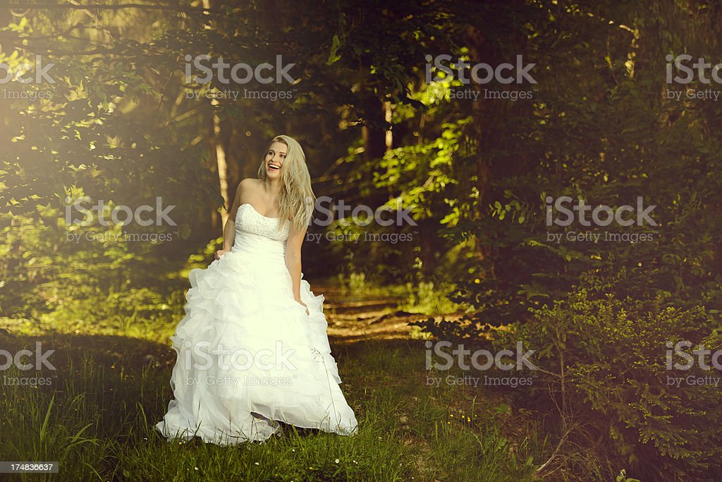 bride outdoors royalty-free stock photo