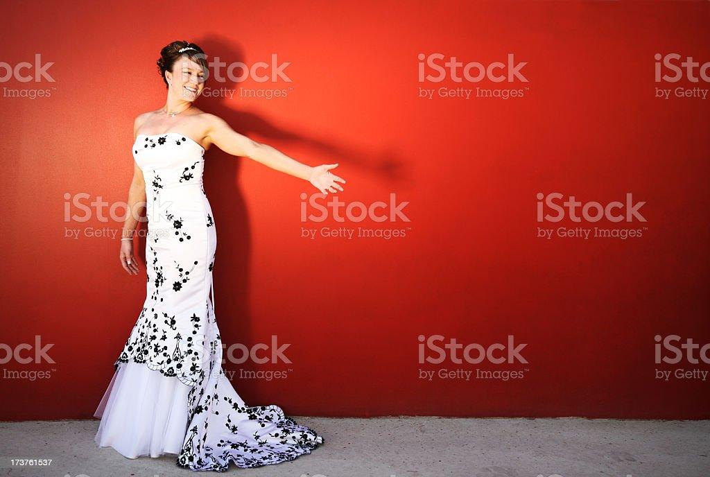 Bride portraits stock photo