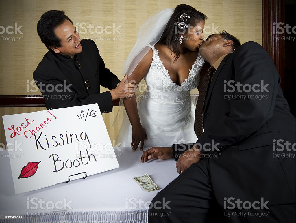 Bride Selling Last Chance Kisses royalty-free stock photo