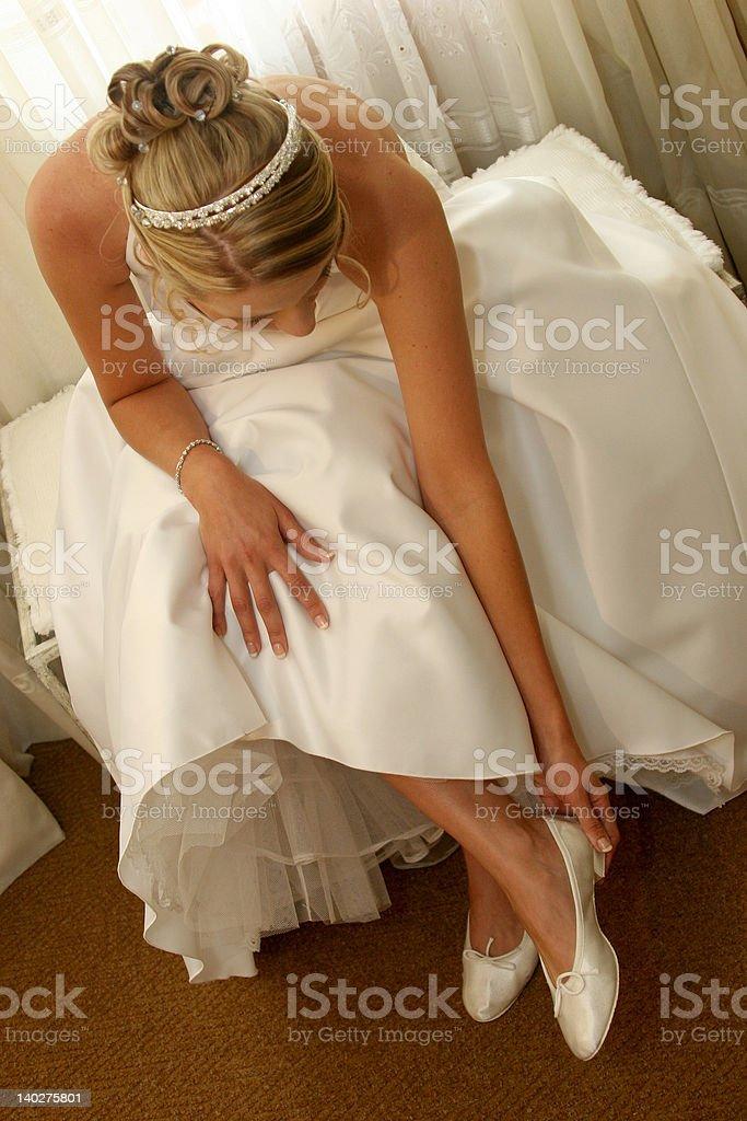 Bride Shoe royalty-free stock photo