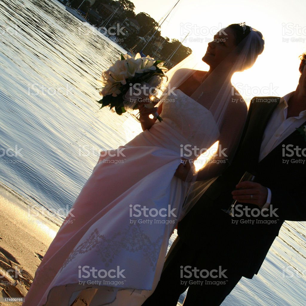 Bride Silhouette royalty-free stock photo