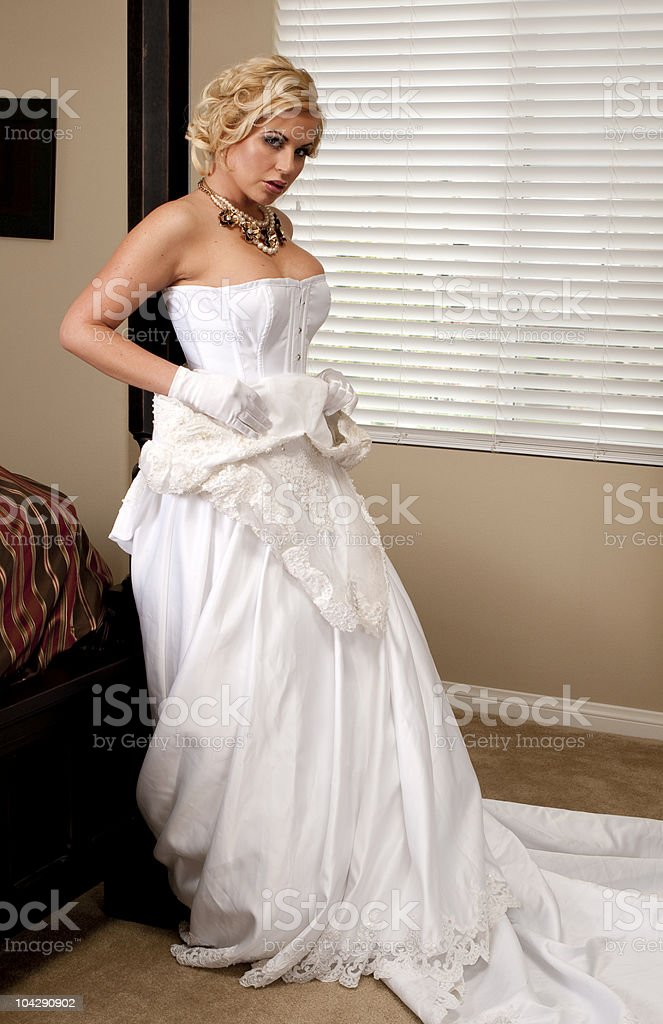 Bride Striptease Series royalty-free stock photo