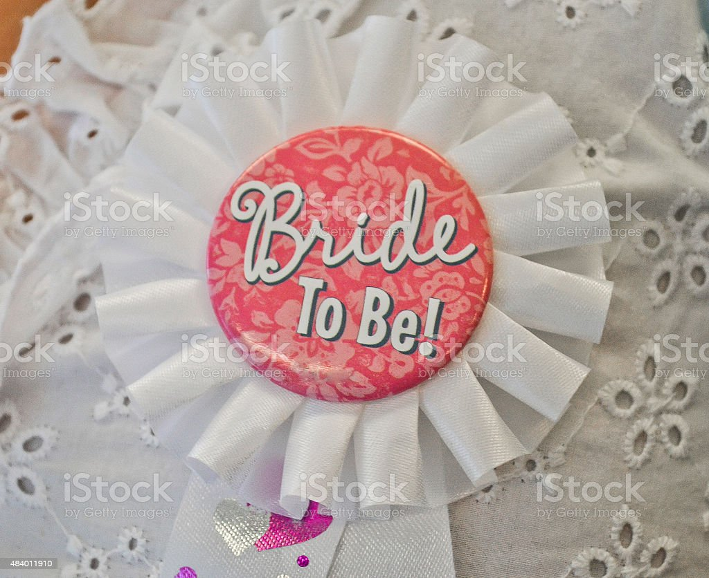 'Bride To Be' Pin stock photo