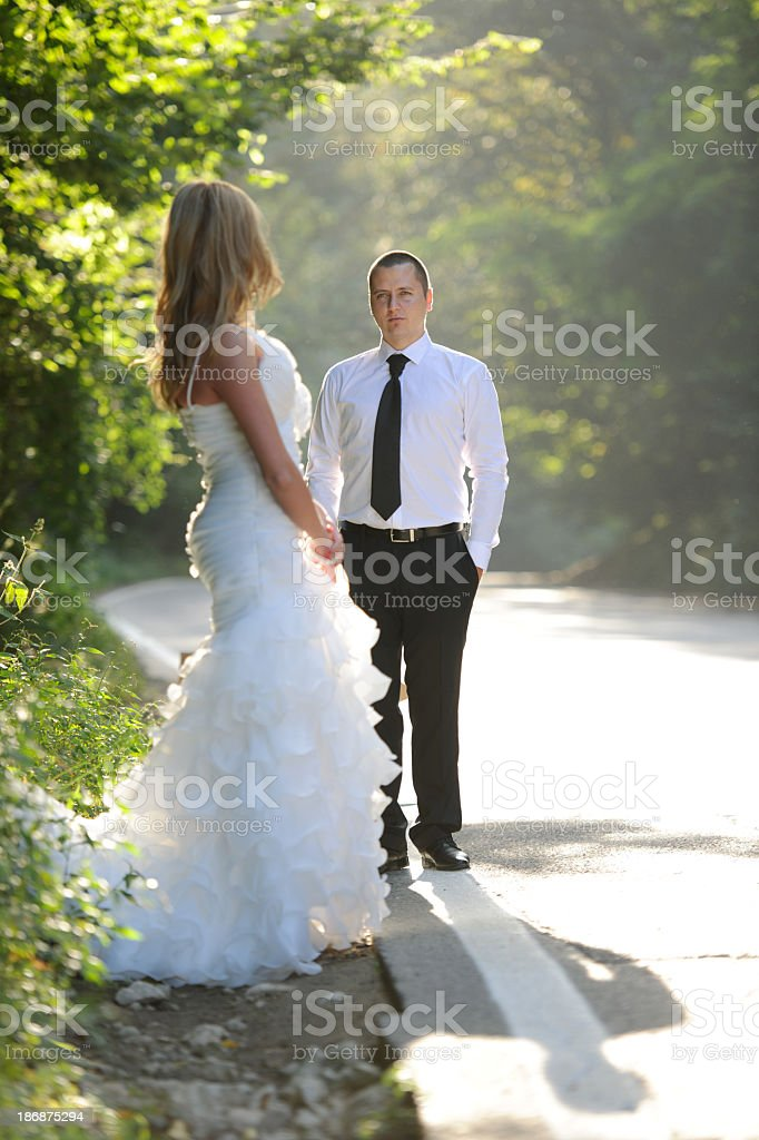 bride waiting her groom royalty-free stock photo