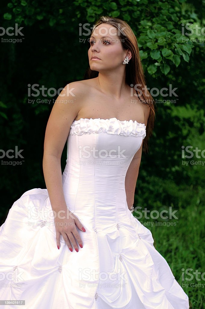 Bride waiting royalty-free stock photo